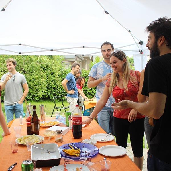 evento al aire libre jardín